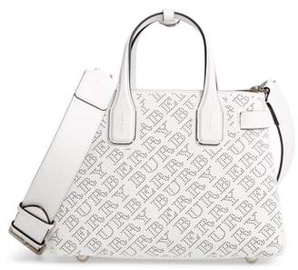 Burberry Small Banner Perforated Leather Tote