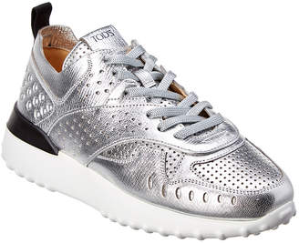 Tod's Perforated Leather Lace-Up Sneaker