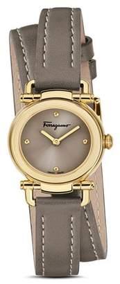 Salvatore Ferragamo Gancino Casual Light Brown Leather Watch, 26mm