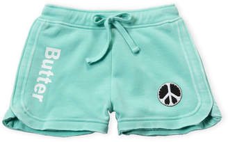 Butter Shoes Girls 7-16) Studded Peace Sign Shorts