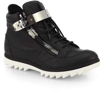 Giuseppe Zanotti Men's Spiked Sole High-Top Sneakers