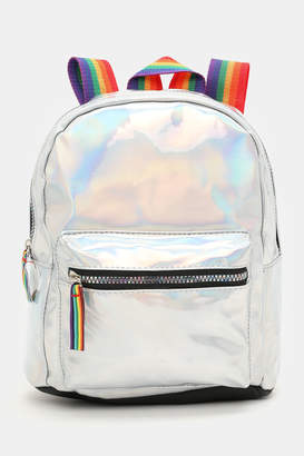 Ardene Patent Faux Leather Rainbow Backpack