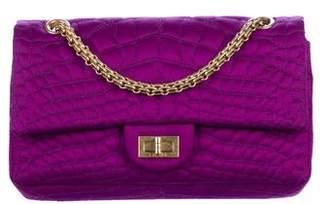 Chanel Satin Croc Reissue 225 Double Flap Bag