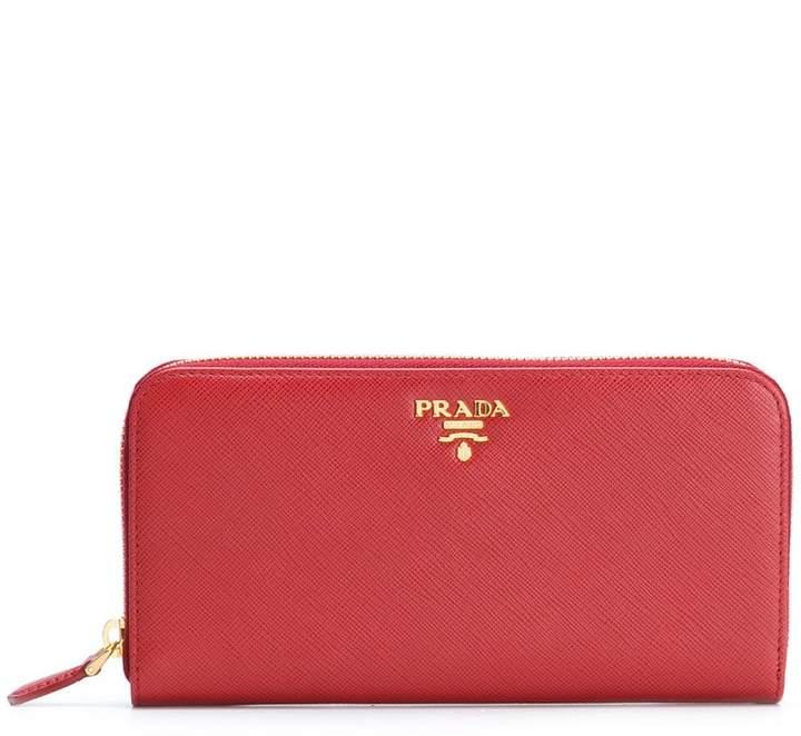 Prada zip around Saffiano wallet