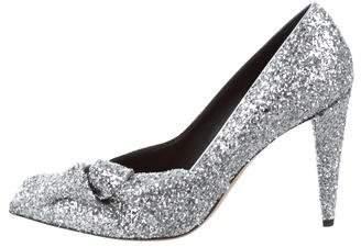 Isabel Marant Glitter Pointed-Toe Pumps
