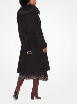 MICHAEL Michael Kors Corduroy and Faux Fur Coat