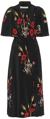 Valentino Printed silk wrap dress