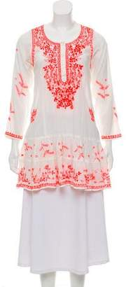 Juliet Dunn Embroidered Knit Tunic
