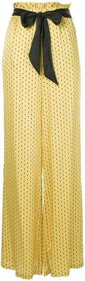 Asceno dot print high-waisted trousers