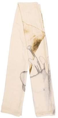 Valentino Velvet Printed Shawl