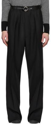 Random Identities Black Long Crotch Trousers