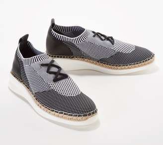 Vince Camuto Knit Sneakers with Jute Wrap- Affina