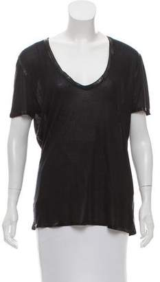 Zadig & Voltaire Coated Rib Knit Top