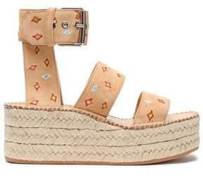 Rag & Bone Suede Platform Espadrille Sandals
