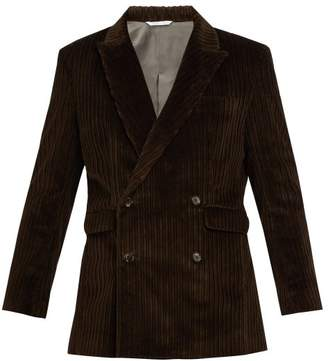 Aries Corduroy Double Breasted Tailored Jacket - Mens - Brown