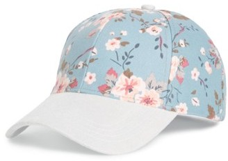 Women's Collection Xiix Flower Print Adjustable Baseball Cap - Blue $25 thestylecure.com
