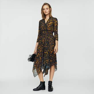 Maje Printed asymmetric dress