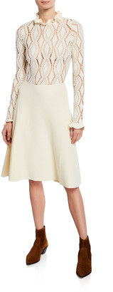 See by Chloe Lacy Jersey Long-Sleeve Dress