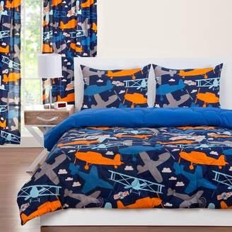 Crayola Take Flight Reversible Comforter With Sham Blue