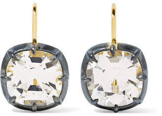 Fred Leighton - Collection Silver-plated, 18-karat Gold And Topaz Earrings