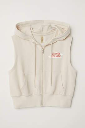 H&M Sleeveless Hooded Jacket - Beige
