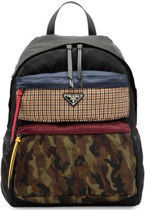 Prada printed technical fabric backpack