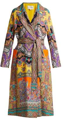 Etro Opal Paisley Print Textured Crepe Jacket - Womens - Multi