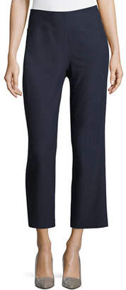 Eileen Fisher Washable Stretch Crepe Boot-Cut Pants, Petite