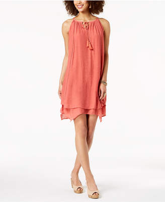 Style&Co. Style & Co Handkerchief-Hem Sleeveless Dress, Created for Macy's
