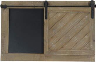 Sagebrook Home Brown Wood Wall Chalkboard