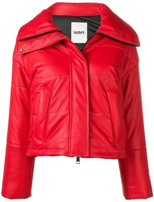 Yves Salomon Army cropped padded jacket