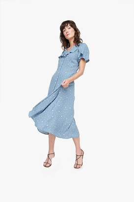 Genuine People Ruffle Button Up Dress