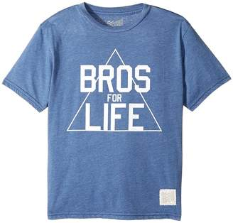 Original Retro Brand The Kids Bros for Life Short Sleeve Heathered Tee Boy's T Shirt