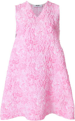 MSGM quilted embroidery dress