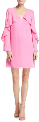 Neiman Marcus Kobi Halperin Bethenny Ruffled Long-Sleeve Dress