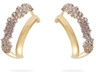 A.N.A Khouri - Simplicity 18kt Gold And Diamond Earrings - Womens - Gold