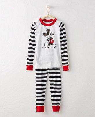 Kids Disney Mickey Mouse Long John Pajamas In Organic Cotton $48 thestylecure.com