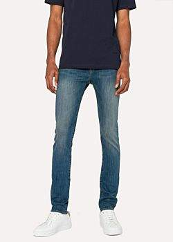 Paul Smith Men's Slim-Fit Antique-Wash Stretch-Denim Jeans