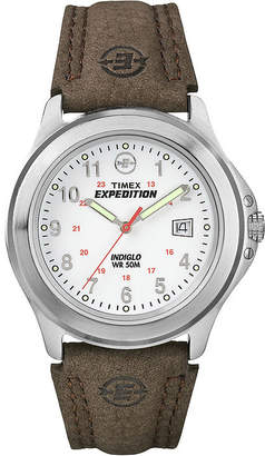 Timex Expedition Field Metal Mens Brown Leather Strap Watch T443819J