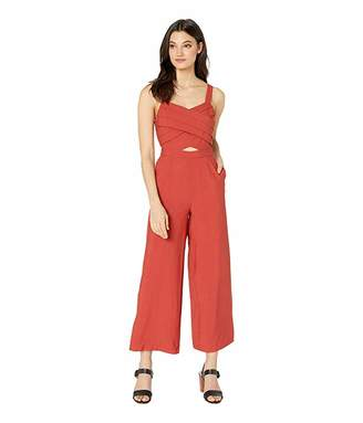 J.o.a. Long Jumpsuit with Pleats on Top
