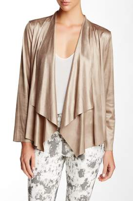 Insight Cracked Faux Leather Lapel Jacket