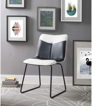 88b1308daa6a Acme Narcissus Accent Chair in Black and White Leatherette