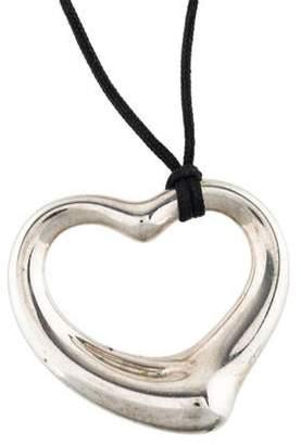 Tiffany & Co. Open Heart Cord Pendant Necklace
