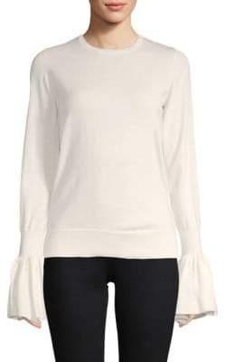 ADAM by Adam Lippes Bell-Sleeve Merino Wool Sweater