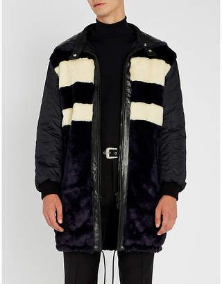 Givenchy Reversible leather, shell and faux-fur coat