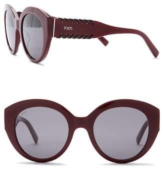 Tod's Women's 52mm Round Sunglasses