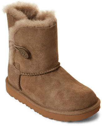 UGG Toddler Girls) Bailey Button II Real Fur Tall Boots