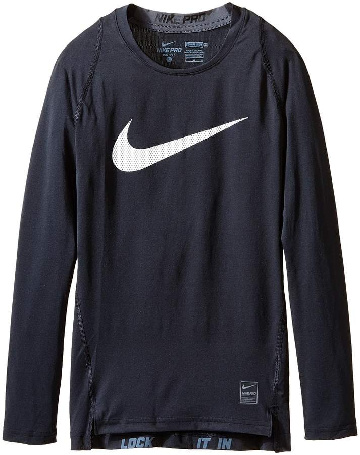 Nike Kids - Cool HBR Comp Long Sleeve Boy's Workout