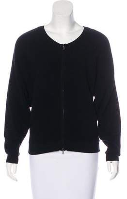 TSE Wool Zip-Up Cardigan