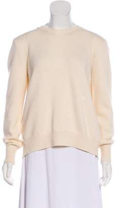Celine Draped Crew Neck Sweater